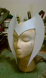 Weaselhammer Props: Scarlet Witch costume headpiece