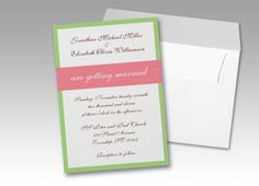Simple and elegant wedding invitations, perfect for Spring or Summer