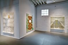 Ky Anderson Vicki Sher Meg Lipke Artist Paintings On Paper Giants Exhibition Proto Gallery Hoboken New Jersey