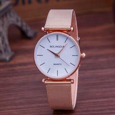 f791cadba62 Luxusní značky Hodinky dámské módy Rose zlaté křemenné hodinky  Příležitostné kovové oko z nerezové oceli Šaty hodinky Hot Sale Reloj