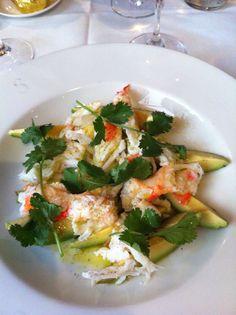 Crab avocado salad Hotel Costes Paris 2012