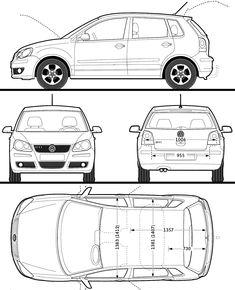 2008 Volkswagen Polo GTI 5-door Hatchback blueprint