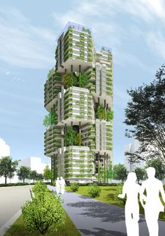 The optimal green building would be considered a expanding job that will permit you to save most of the organic environment around. Environmental Architecture, Green Architecture, Futuristic Architecture, Sustainable Architecture, Residential Architecture, Architecture Design, Pavilion Architecture, Contemporary Architecture, Mix Use Building
