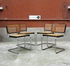 Sedie Cesca Gavina con seduta impagliata. Set di 4. Misure 48x54x79h. #magazzino76 #viapadova #Milano #nolo #viapadova76 #M76 #modernariato #vintage #industrialdesign #industrial #industriale #furnituredesign #furniture #mobili #modernfurniture #antik #antiquariato  #armchair #chair #sofa #poltrone #divani #tavoli #table #cesca #gavina