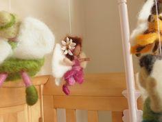 Waldorf Fairy Mobile Baby Nursery Tinkerbell Rosetta by SeinFelt