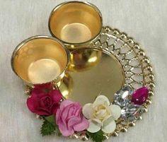 Diwali Diya, Diwali Craft, Diy Diwali Decorations, Creative Art, Tea Lights, Crafts, Beautiful, Diy, Manualidades