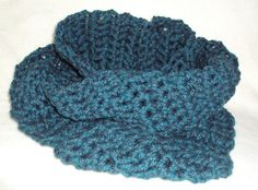 Chunky Style Teal Crocheted Scarf by tracyleeilg1318 on Etsy