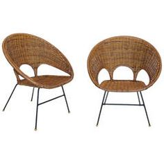 Sculptural Wicker and Rattan Chairs