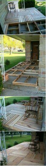 Build over a concrete patio