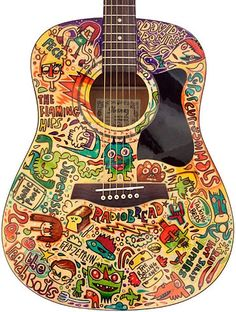 one day i will learn to play guitar. and i will have mine look like this.