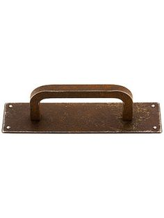 Mission Square Cabinet Knob With Rectangular Backplate -- to ...