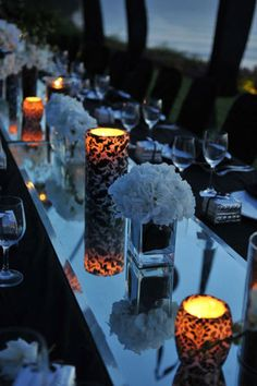 Elegant candles and table setting! Fantasy Wedding, Gothic Wedding, Dream Wedding, Wedding Stuff, Wedding Ideas, Halloween Ball, Halloween Party Themes, Fireworks Music, Gothic Elements