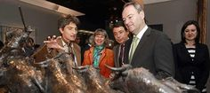 Alberto Fabra junto al Presidente de la Comunidad de Madrid, en la inauguración de la exposición de Mariano Benlliure.