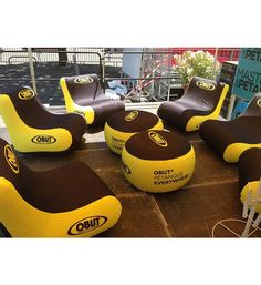 The air-chair is long-lasting and does great in business meetings. These Outdoor air chairs and tables are good tools of display for your products at trade shows and also serve the visitors for discussions, demonstrations and relaxations… Inflatable Furniture, Inflatable Chair, Pop Up Frame, Frame Stand, Round Table Sizes, Custom Canopy, Air Chair, Canopy Tent, Tents