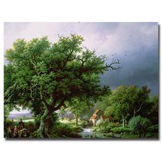 Bernard-Cornelis-Koekkoek-Landscape-with-Mill-Canvas-Art-60da8625-8a64-4e0e-98e3-cdff5bd717eb_1000.jpg (1000×1000)