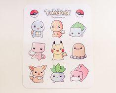 Pokemon Stickers by minkandmango on Etsy