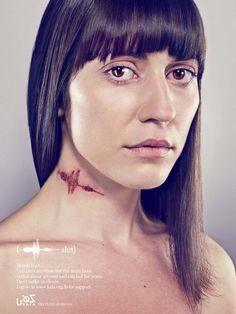 """""""Vous ne pouvez pas les voir, mais les cicatrices de la violence verbale sont réelles et peuvent durer des années."""" Une campagne de sensibilisation sur les violences verbales pour le compte de KAFA."""