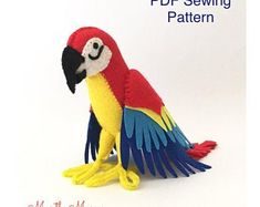 Ever Sew Nice by EverSewNice on Etsy Pdf Sewing Patterns, Sewing Tutorials, Sewing Projects, Monkey Pattern, Dragon Pattern, Felt Birds, Couture, Felt Animals, Digital Pattern
