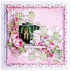 Layout I designed for the May Merly Impressions crop and kit - using the High Tea Kaisercraft collection.