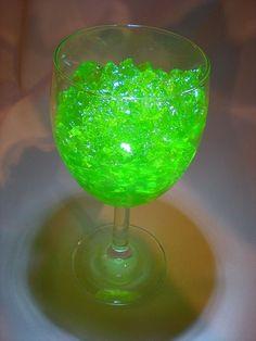 Kryptonite Jello jelly superman kids birthday party dessert idea