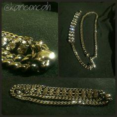 Bracelet strass pulseira corrente várias voltas by @kariconcah #semfiltro #pulseira
