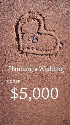 I'm not planning on having only a 5,000$ wedding but there are some cool ideas in this blog!