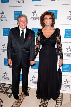 Sophia Loren Photos Photos - Tony Bennett (L) and Sophia Loren attend the 2015 National Arts Awards at Cipriani 42nd Street on October 19, 2015 in New York City. - 2015 National Arts Awards