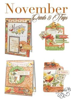 Download the November Time to Flourish Cards & Tags Project Sheet Your Pals in Paper, The G45 Family