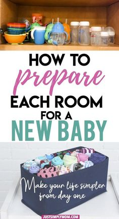 Before you bring home a new baby, make sure your house is organized well. To prepare for the newborn, each room must have specific items to make things more convenient for the parents. Here are some tips on how to prepare each room for baby. Baby Must Haves, New Born Must Haves, Before Baby, After Baby, Baby Boys, Mom Baby, Preparing For Baby, Preparing The Nursery, Getting Ready For Baby