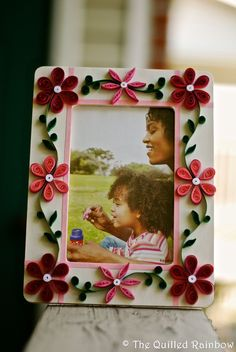 Quilled Photo Frames - Handmade Home decor. via Etsy.