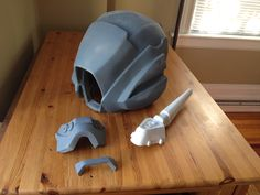 Destiny Warlock Helmet Kit trimmed sanded, primed and ready for paint and assembly by LunaArmorWorks on Etsy https://www.etsy.com/listing/198045976/destiny-warlock-helmet-kit-trimmed