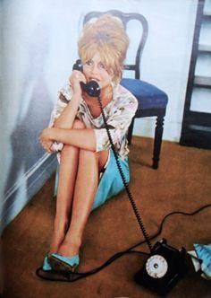 Brigitte Bardot during the filming of Vie Privee, 1961.