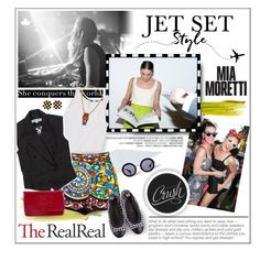 """""""Jet Set Style With DJ Mia Moretti & The RealReal: Contest Entry"""" by jenpeterson07 ❤ liked on Polyvore featuring Jeremy Scott, Chanel, Rebecca Minkoff, Alexander McQueen, Dolce&Gabbana, Kenzo, Ranjana Khan and Miu Miu"""
