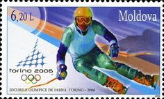 Moldova Postage Stamps (Commemorative) 2006 № 537 | Slalom | Issue: Winter Olympic Games, Turin 2006