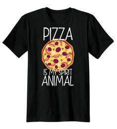 Pizza is my Spirit Animal Shirt, Screen Printed T-Shirt, Tee Shirt, T Shirt Mens,Ladies on Etsy, $14.99