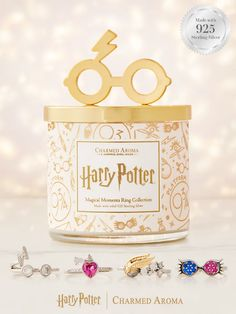 Harry Potter Candles, Harry Potter Ring, Harry Potter Charms, Harry Potter Merchandise, Harry Potter Gifts, Harry Potter Hogwarts, Charmed Aroma Candles, Jewelry Candles, Harry Potter Collection