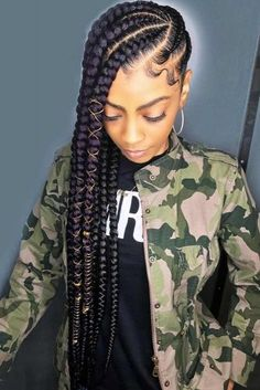 35 Goddess Braids Ideas For Ravishing Natural Hairstyles More from my site cornrow braided hairstyles for natural hair: 50 Catchy Cornrow Braids Hairstyle… 25 Ideas braids hairstyles for black women cornrows buns – 2019 Braided Hairstyles For Black Women Black Girl Braids, Braids For Black Hair, Girls Braids, Cornrows Braids For Black Women, Purple Braids, Black Women Hairstyles, Girl Hairstyles, Updos Hairstyle, Funky Hairstyles