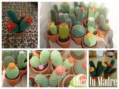 Jardin de cactus al crochet