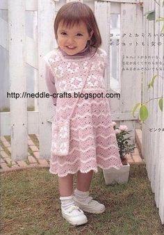 شغل ابره NEEDLE CRAFTS: فستان بنوته كروشيه - a crochet girl dress