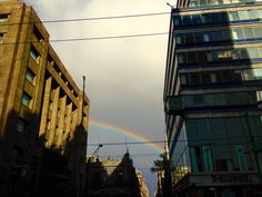 Another double rainbow. Mexico City. Downtown.