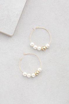 Hoops of Pearls $14
