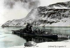 Battleship Tirpitz in Fetten-ferd. 1943