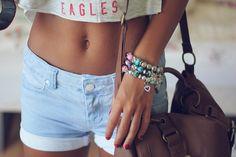 Cropped shirt & shorts <3