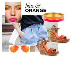 """Orange play"" by missisbossfashion on Polyvore featuring moda, Mary Greenwell i Kate Spade"