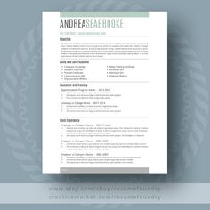 Student Resume Template   The Andrea By ResumeFoundry