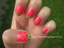 Watermelon Mani - would be awesome on toes!