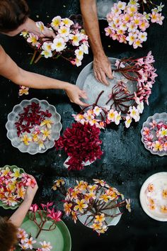 Frangipani with The Garden Clinic. Photo by Luisa Brimble // plumeria My Flower, Fresh Flowers, Beautiful Flowers, Flower Room, Fall Flowers, Planting Flowers, Floral Arrangements, Wedding Flowers, Sycamore Street
