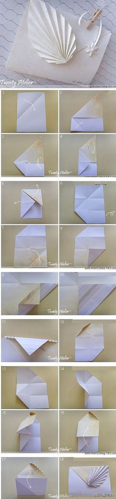Origami leaf decoration - photo directions.