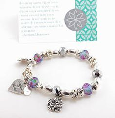 Personalized Matron of Honor Beaded Bracelet with Card