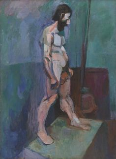 10/13/16 http://www.moma.org/collection/works/79562?locale=en Male Model by the French artist Henri Matisse depicts a stationary figure through a slightly abstract form. I like this piece because Matisse used correct proportions while interpreting the subject in his own way.